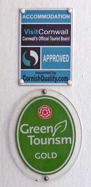 Trenython Manor was awarded a gold badge for Green Tourism