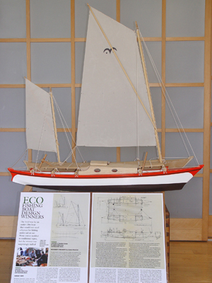 Classic Boat's prize-winning eco-design sailing craft - designed in Cornwall